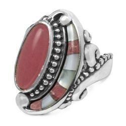 Life Long Love Pink Quartzite Inlay Ring