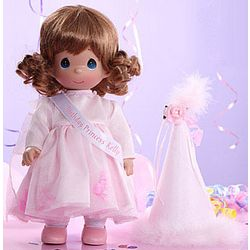 Precious Moments Personalized Auburn Hair Birthday Doll