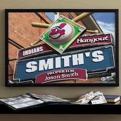 "Cleveland Indians MLB Baseball Personalized 16""x24"" Print"