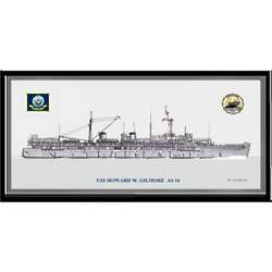 USS Howard W. Gilmore AS-16 Navy Art Print