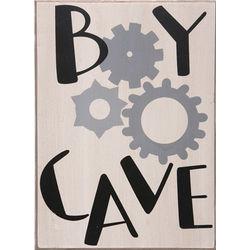 Boy Cave Plaque