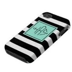 Monogram and Stripes Phone Cover