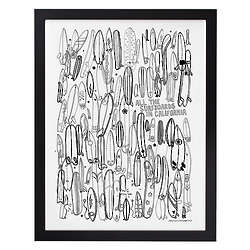 All the Surfboards in California Framed Print