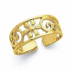 Daisy Flower Toe Ring in 14k Gold