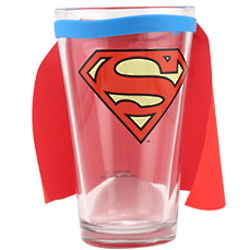 Superman Caped Pint Glass