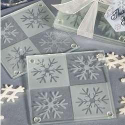 Snowflake Glass Coasters