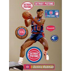 Dennis Rodman Detroit Pistons Fathead Wall Decoration