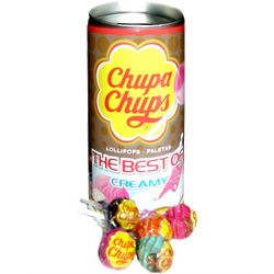 Chupa Chups The Best of Creamy Lollipops Tin Bank