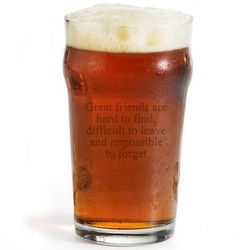 British Beer Pint Glass