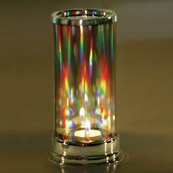 Crystal Prism Hurricane Candleholder