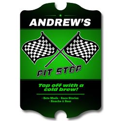 Pit Stop Brew Personalized Sign