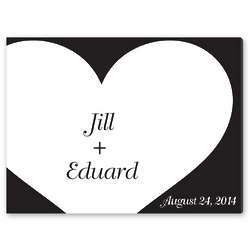 Shadow of Love Signature Guest Book Canvas Print