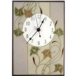 Nouveau Ginkgo Ceramic Wall Clock