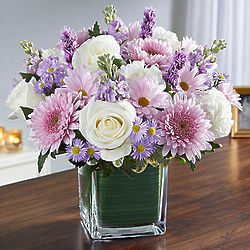 Healing Tears Lavender & White Large Bouquet
