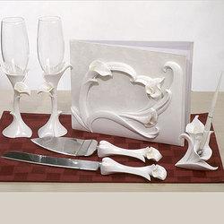 Calla Lily Themed Bridal Accessories Set