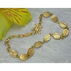 Gold Medal Bead Rosary Bracelet
