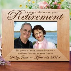 Personalized Retirement Wood Frame