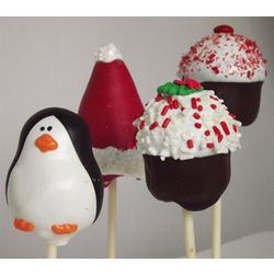 Holiday Designs Hand Decorated Mini Cake Pops