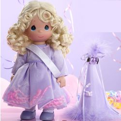 Precious Moments Personalized Blonde Birthday Doll