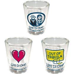Life is Crap Shot Glasses
