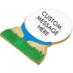 Personalized Giant Golf Ball Cookie