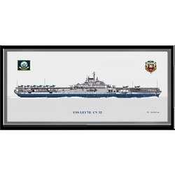USS Leyte CV-32 Navy Art Print