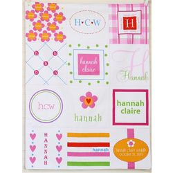 Personalized Girl's Patchwork Quilt Blanket