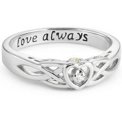 Celtic Hidden Treasure Couple's Ring