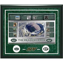 New York Jets Framed Photo Collage with Game Used Turf