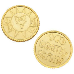 You Really Shine! Gold Tone Plastic Coins