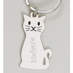 Engraveable Cat Key Chain