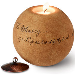 A Life So Beautifully Lived Memorial Tea Light Holder