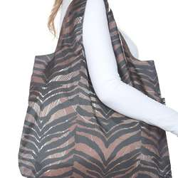 Tiger Print Savanna Reusable Shopping Bag