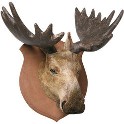 Faux Moose Animal Head Trophy