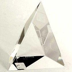Crystal Triangular Trophy
