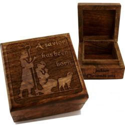 Personalized Shepherds Trinket Box