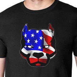 Patriotic Pit Bull T-Shirt