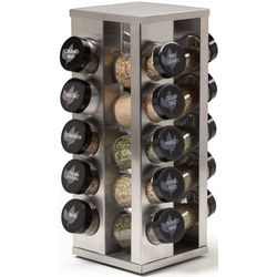 Brushed Heritage 20-Jar Spice Rack