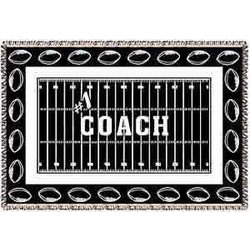 Personalized Football Coach Afghan