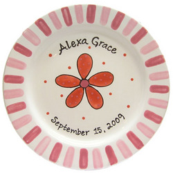 Personalized Daisy Plate