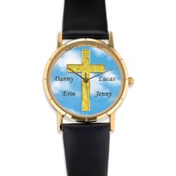 Personalized Inspirational Cross Watch
