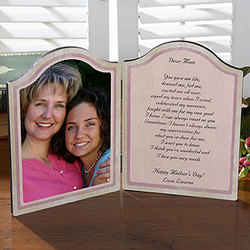 Personalized Mother's Day Photo Poem Plaque