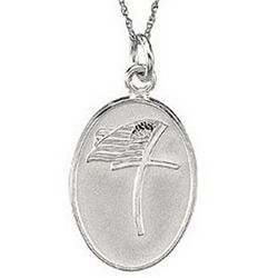 Military Loss Sterling Silver Pendant Necklace