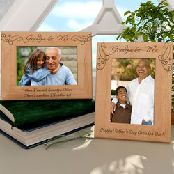 Personalized Royale Grandpa & Me Wooden Picture Frame