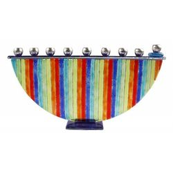 Rainbow Fusion Menorah