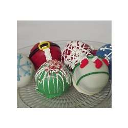 Hand Decorated Holiday Cake Truffles