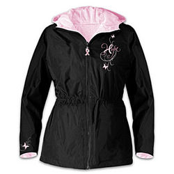 Ribbons of Hope Breast Cancer Support Women's Jacket