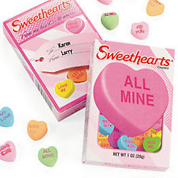 Sweethearts Candies in Gift Label Boxes