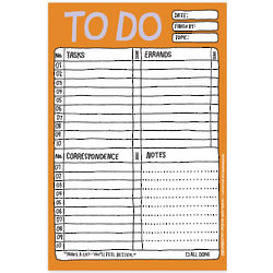 Hand-Lettered To Do Checklist Notepad