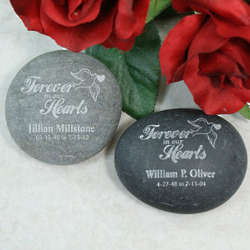 Engraved Forever in Our Hearts Memorial Stone
